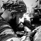 Michele Marone - Mike - horror tattoo e Black & White